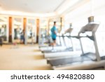 abstract blur gym and fitness... | Shutterstock . vector #494820880