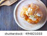top view of french breakfast... | Shutterstock . vector #494821033