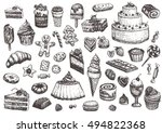 sweet collection of drawings.... | Shutterstock .eps vector #494822368