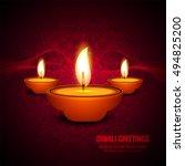 abstarct happy diwali background | Shutterstock .eps vector #494825200