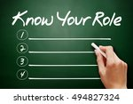 Small photo of Hand drawn Know your Role, business concept on blackboard