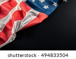 american flag on dark background | Shutterstock . vector #494833504