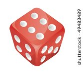 Red Vector Dice