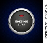 realistic engine start button... | Shutterstock .eps vector #494835976