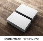3d rendering of business card | Shutterstock . vector #494842690