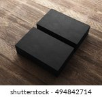 3d rendering of business card | Shutterstock . vector #494842714