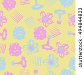 seamless     pattern of ... | Shutterstock . vector #494844823