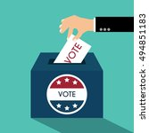 presidential election day vote... | Shutterstock .eps vector #494851183