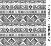 ethnic seamless monochrome... | Shutterstock .eps vector #494851648
