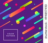 flat dynamic background design. ... | Shutterstock .eps vector #494857450