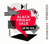 black friday sale and special... | Shutterstock .eps vector #494863324