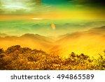 mountain landscape clouds in... | Shutterstock . vector #494865589