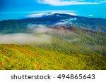 mountain landscape clouds in... | Shutterstock . vector #494865643