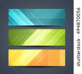 set of colorful abstract... | Shutterstock .eps vector #494870056