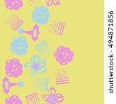 seamless    vertical  pattern... | Shutterstock .eps vector #494871856
