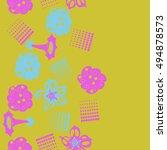 seamless    vertical  pattern... | Shutterstock .eps vector #494878573