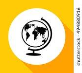 world globe.vector icon. | Shutterstock .eps vector #494880916
