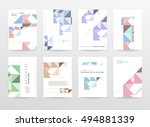 geometric background template... | Shutterstock .eps vector #494881339