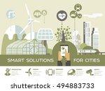 smart city vector illustration  ...   Shutterstock .eps vector #494883733