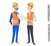 two full length persons ... | Shutterstock .eps vector #494884084