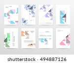 geometric background template... | Shutterstock .eps vector #494887126