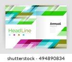 geometric business annual...   Shutterstock .eps vector #494890834