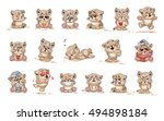 stock illustrations isolated... | Shutterstock .eps vector #494898184