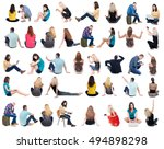 collection back view of... | Shutterstock . vector #494898298