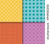 set of four seamless geometric... | Shutterstock .eps vector #494900350