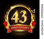 43rd anniversary logo with... | Shutterstock .eps vector #494902606