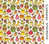 seamless pattern of hand drawn...   Shutterstock . vector #494904973