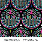 vector seamless pattern with... | Shutterstock .eps vector #494905276
