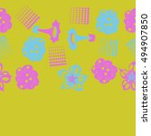 seamless   horizontal  pattern... | Shutterstock .eps vector #494907850