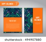 hand drawn tribal bat in the... | Shutterstock .eps vector #494907880