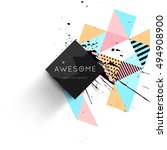 geometric background template... | Shutterstock .eps vector #494908900