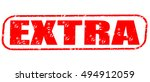 extra red stamp on white... | Shutterstock . vector #494912059