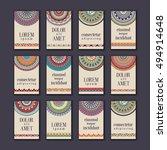 vintage banners cards set.... | Shutterstock .eps vector #494914648
