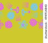 seamless   horizontal  pattern... | Shutterstock . vector #494914840