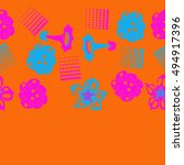 seamless   horizontal  pattern... | Shutterstock . vector #494917396