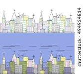 Cat City   Horizontal Pattern...
