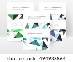 geometric background template... | Shutterstock .eps vector #494938864