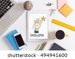 excellence concept | Shutterstock . vector #494941600