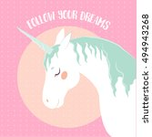 vector image of a unicorn t... | Shutterstock .eps vector #494943268