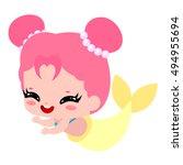 Cute Beautiful Pink Mermaid....