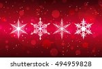 red christmas background with... | Shutterstock . vector #494959828