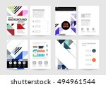 geometric background template... | Shutterstock .eps vector #494961544