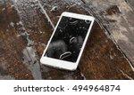 a wet smartphone                ... | Shutterstock . vector #494964874