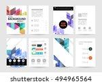 geometric background template... | Shutterstock .eps vector #494965564