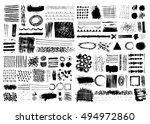 set of  black brush strokes.... | Shutterstock .eps vector #494972860