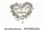 congratulations heart hand...   Shutterstock .eps vector #494980204